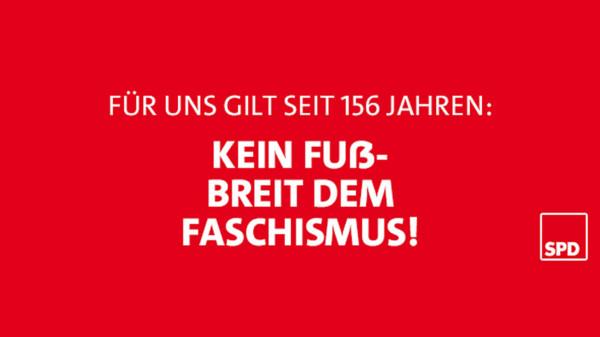 Text: Kein Fußbreit dem Faschismus