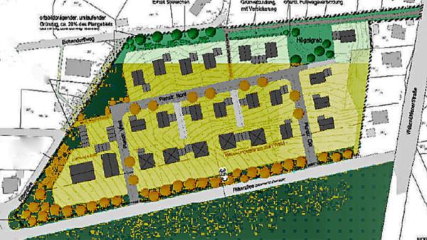 Karte vom Baugebiet Ritterallee II