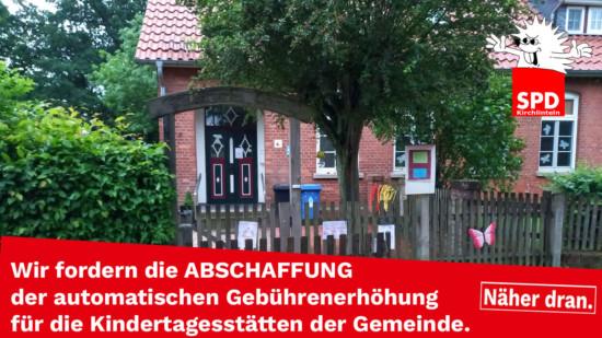 Kindergarten in Otersen mit der Forderung von SPD und Grüne