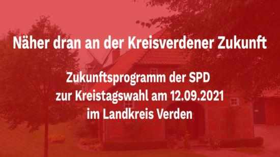 Titel des SPD-Zukunftsprogramms für den Kreis Verden