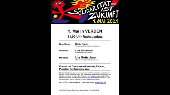 Das Bild zeigt das Einladungsplakat
