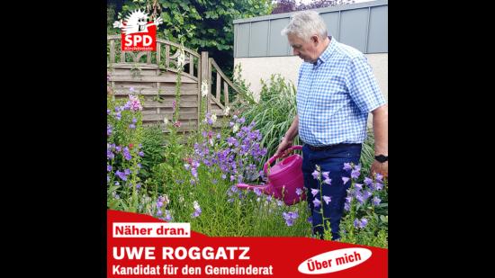 Uwe Roggatz mein Blumen gießen