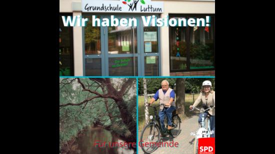 """Bilder aus Kirchlinteln mit dem Text """"Wir haben Visionen"""""""