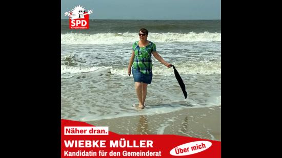 Wiebke Müller am Strand
