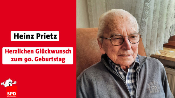 Foto: Ginz Prietz mit Geburtstagswunsch