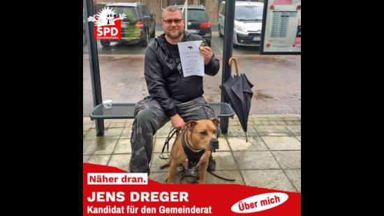 Jens Dreger mit seinem Hund