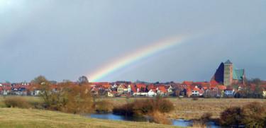Blcik auf Verden mit Regenbogen
