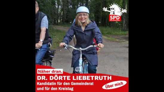 Doerte Liebetruth auf dem Fahrrad